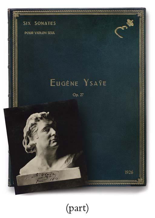 YSAYE, EUGÈNE. Six Sonates pou