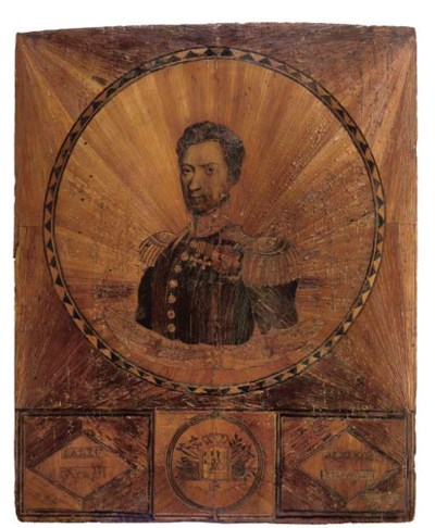 A PIEDMONTESE STRAW-WORK PANEL