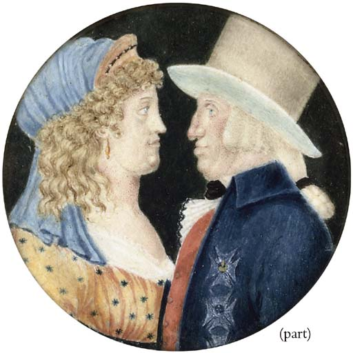 TWO PORTRAIT MINIATURES AND A