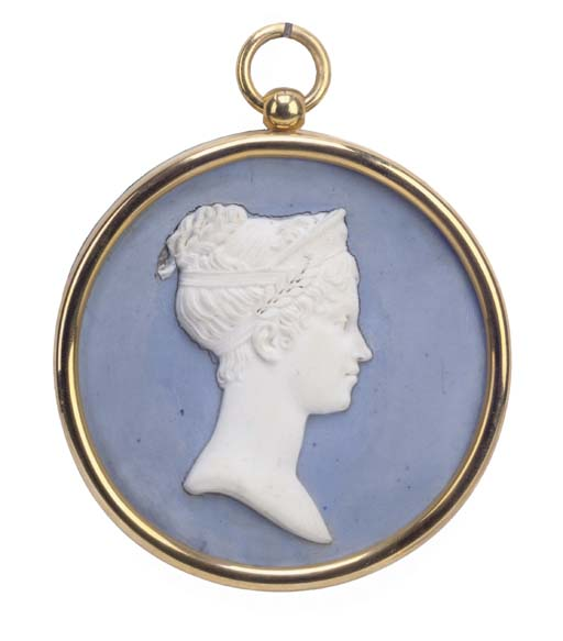 A SEVRES BLUE AND WHITE CIRCUL