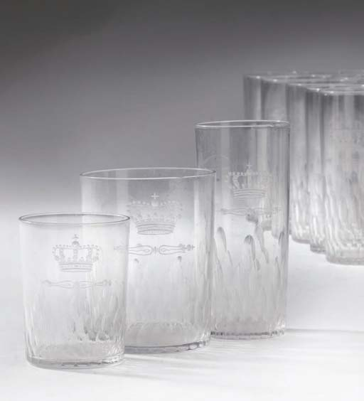 A ROYAL-CRESTED GLASS PART TAB