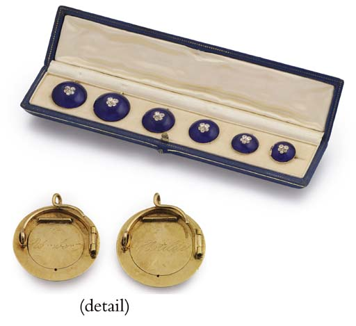A SET OF SIX ROYAL GOLD, ENAME