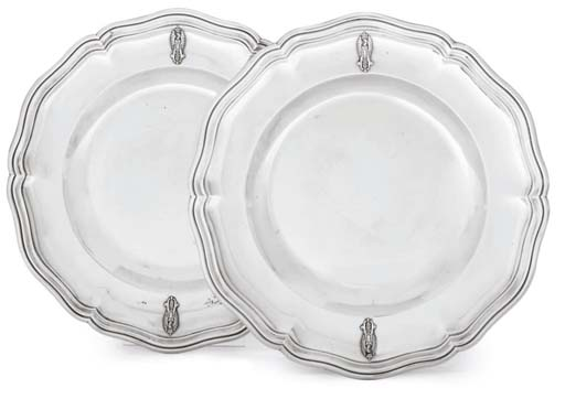 A PAIR OF FRENCH SILVER DINNER