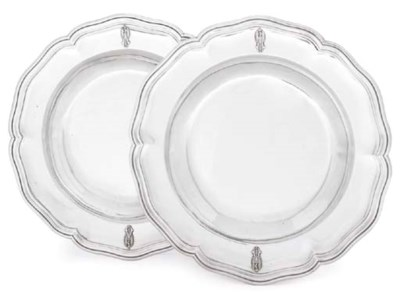 A PAIR OF FRENCH SILVER SOUP-P