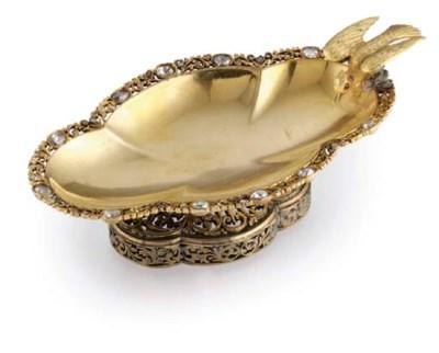 A SILVER-GILT AND DIAMOND-SET