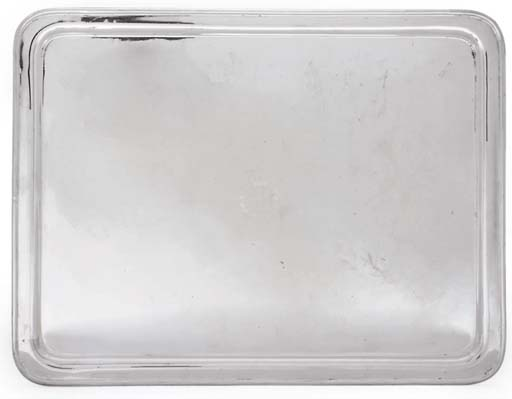 A SILVER-PLATED TRAY