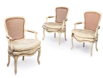 A SET OF THREE ROYAL LOUIS XV