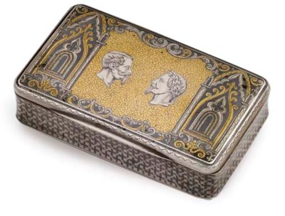 A FRENCH SILVER-GILT AND NIELL