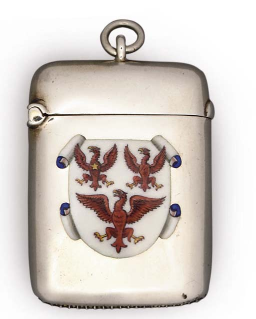 AN EDWARD VII SILVER AND ENAME