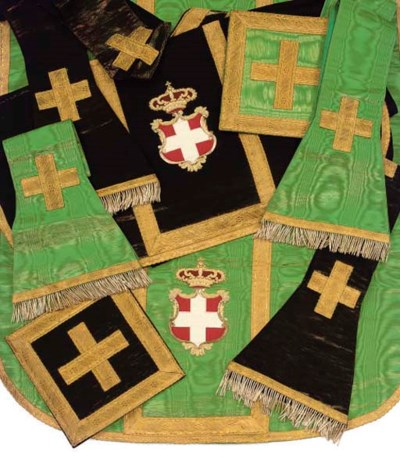 TWO SETS OF VESTMENTS