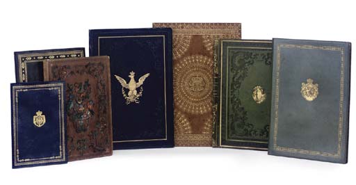 A GROUP OF SEVEN ROYAL BINDING