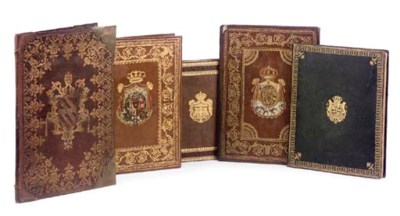 A GROUP OF FIVE BINDINGS