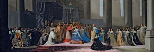 The Coronation of Marie de Medici on 13th May 1610, at St. Denis