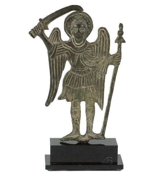 A BRONZE FIGURE OF ARCHANGEL M
