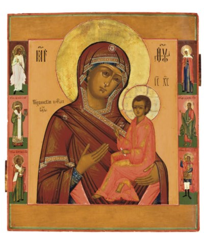 THE MOTHER OF GOD OF TIKHVIN W
