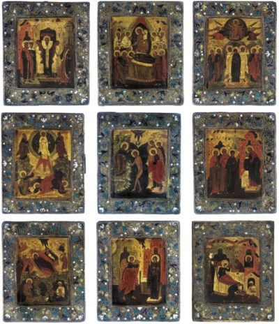 A GROUP OF TRAVELLING ICONS DE