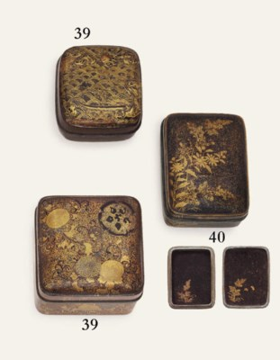 A lacquer kobako [incense box]
