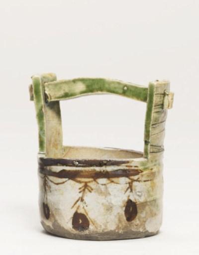 An Oribe chaire [tea jar]