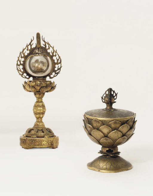 An incense container, a sutra