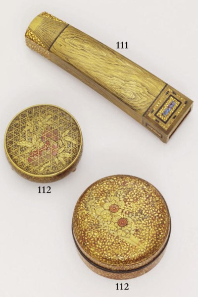 Two lacquer kogo [incense box]