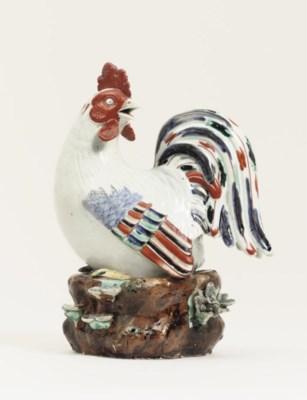 An Arita model of a cockerel