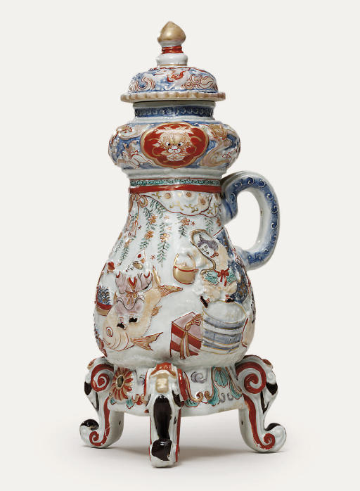 An Imari coffee pot and cover