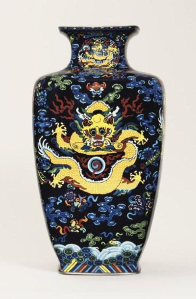 A large cloisonné vase