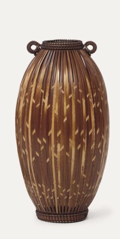 A Bamboo flower basket