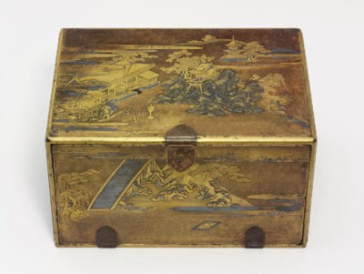 A lacquer chest