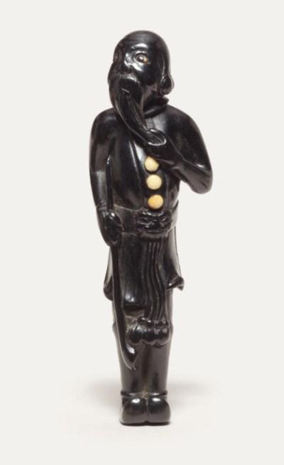 An ebony netsuke