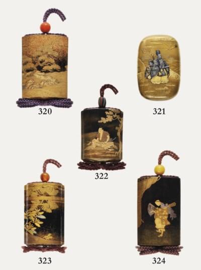 A four-case inro