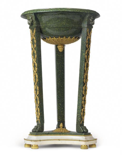 AN ORMOLU-MOUNTED GREEN PORPHY