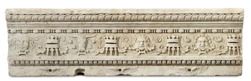A CARVED MARBLE FRIEZE