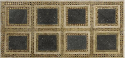 A RECTANGULAR BLACK PORPHYRY,