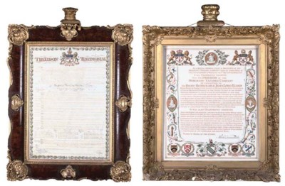 TWO GILTWOOD AND GESSO FRAMED
