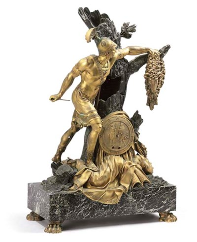 AN EMPIRE PATINATED BRONZE, OR