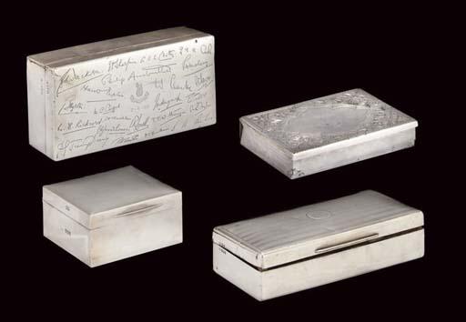 THREE SILVER CIGARETTE BOXES