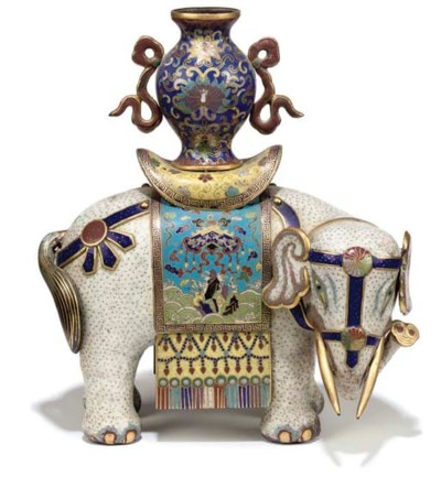 A CHINESE CLOISONNE ENAMEL WHI