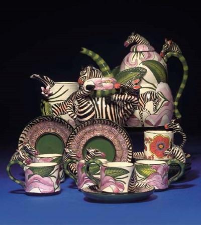 A ZEBRA COFFEE SERVICE