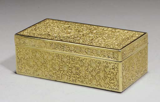 A Chinese repousse silver-gilt