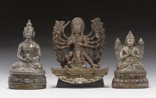 A Tibetan bronze figure of Mah
