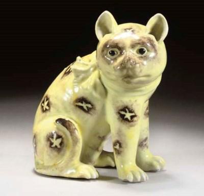 A Chinese yellow glazed model