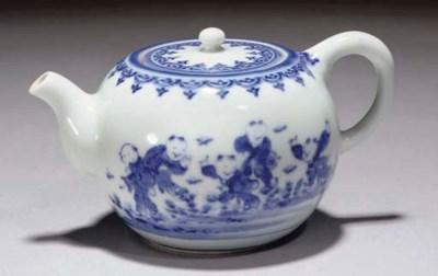 A Japanese Hirado teapot and c