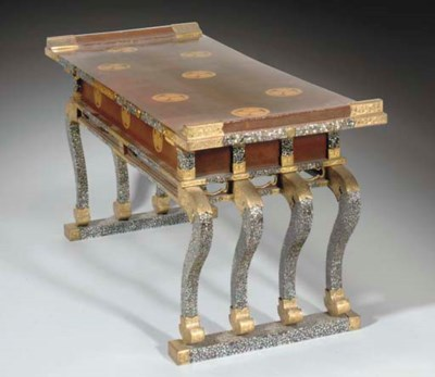A Japanese lacquered writing t