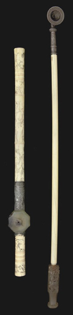 A Chinese bone opium pipe, 19t
