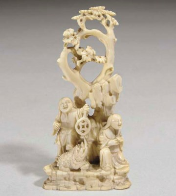 A Chinese ivory carving, 18th