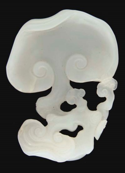 A Chinese white jade carving o