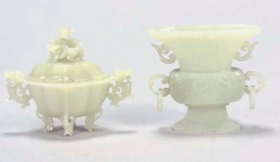 A Chinese white jade flattened