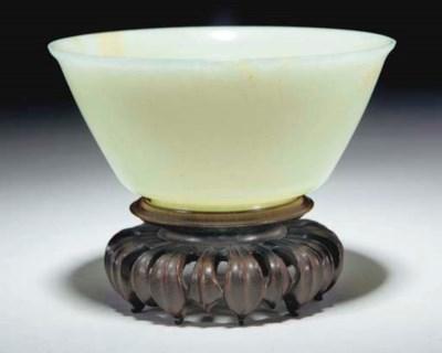 A Chinese celadon jade bowl, J