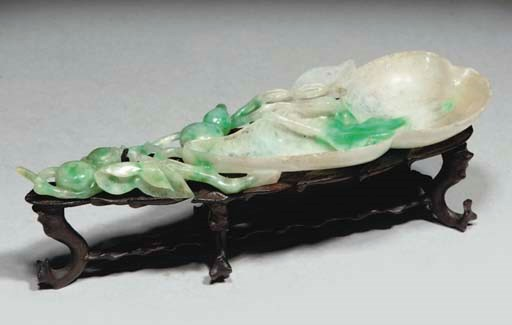 A Chinese jadeite brushwasher,